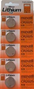CR2025 Maxell 3v Lithium Battery