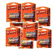 1 case (48) Cr123a batteries ge sanyo